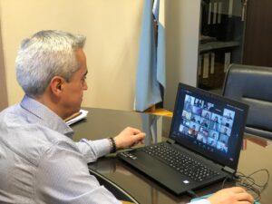 Reunión realizada vía Zoom junto a todas las jurisdicciones del país.